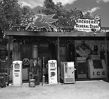 Route 66 - Hackberry General Store by Frank Romeo