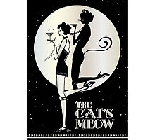 Gatsby Girl Flapper The Cat's Meow (black and silver) Photographic Print