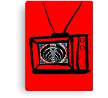 trippy bass tv Canvas Print
