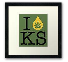 I Dab KS (Kansas) Framed Print