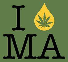 I Dab MA (Massachusetts) by LaCaDesigns