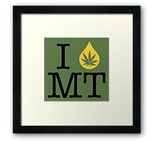 I Dab MT (Montana) Framed Print