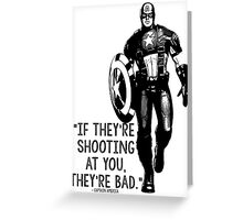 Captain America Marvel Avengers Typography Greeting Card