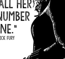 Black Widow Marvel Avengers Typography Sticker