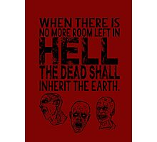 Dawn of the Dead Zombies Typography Photographic Print