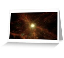 Gassy Cosmic Web Greeting Card