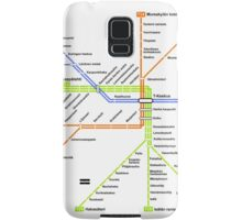 Linjakartta Tunnelirata Samsung Galaxy Case/Skin