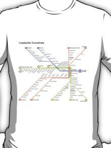 Linjakartta Tunnelirata T-Shirt
