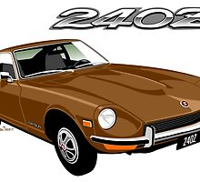 Datsun 240Z brown by car2oonz