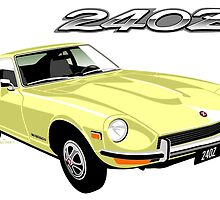 Datsun 240Z pale yellow by car2oonz