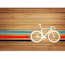 Bike Stripes Velodrome Photographic Print