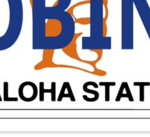 Robin 1  Magnum Hawaii Plate Sticker