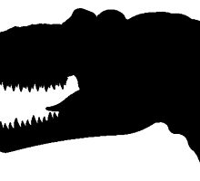 T-Rex Head Silhouette by kwg2200