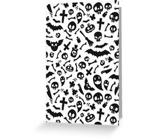 Halloween Black Symbols Pattern Greeting Card