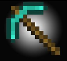 HUGE Minecraft Pickaxe by atlantum