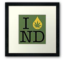 I Dab ND (North Dakota) Framed Print