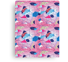 abstract pattern of geometric shapes Canvas Print