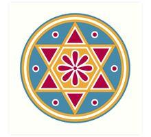 Hexagram, ✡ , Magic, Merkaba, David Star, Solomon Art Print