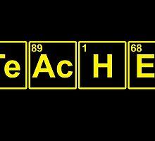 FUNNY CHEMISTRY TEACHER DESIGN by inkedcreatively