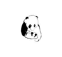 Panda mother and baby by MichaelaStavova