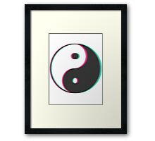 YinYang Transparent Tumblr Style Framed Print