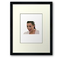 Kim Kardashian Crying Framed Print