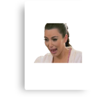 Kim Kardashian Crying Canvas Print