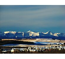 Snowy Rockies Photographic Print