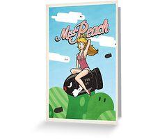 Miss Peach Pin-Up Greeting Card