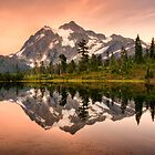 Mount Shuksan reflected in Picture Lake, Washington, USA by DArthurBrown