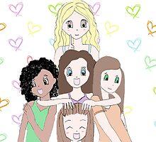The ALDC Cartoon Girls by 7brightstars
