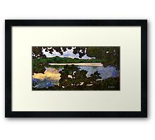 Vincent and I at the Lake Framed Print