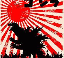 Godzilla - Original Japanese Nerdy Style by Mellark90