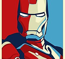 Vote for Ironman - Obama Style Marvel Ironman (Nerd Must Have) by Mellark90