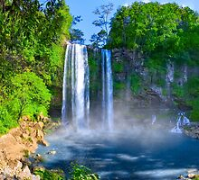 Cascadas De Misol Ha - Tropical Waterfalls in Chiapas Mexico by Mark Tisdale