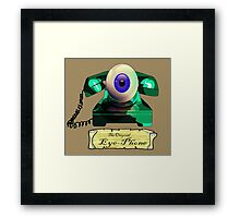 THE ORIGINAL EYE-PHONE Framed Print