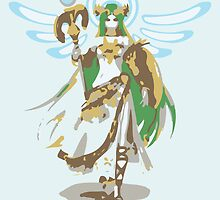 Minimalist Palutena from Super Smash Bros. 4 by Himehimine