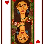 Frida, queen of hearts by Madalena Lobao-Tello