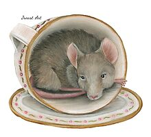 Tea Cup Mouse by Jreast Art