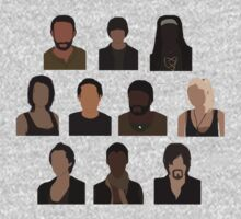 The Walking Dead Cast - Minimalist style Kids Clothes