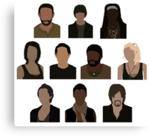 The Walking Dead Cast - Minimalist style Canvas Print