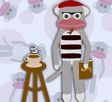 Hipster Beatnik Sock Monkey by mytshirtfort