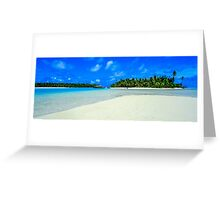 Paradise on One foot island, Aitutaki, Cook Islands Greeting Card