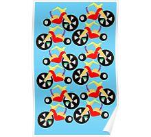 Big Wheel Pattern Poster