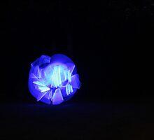 Blue light streaks ball by Skymind