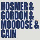 Hosmer, Gordon, Moose & Cain by canossagraphics
