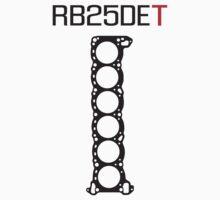 RB25DET Nissan Engine Head Gasket design for a light shirt by ApexFibers