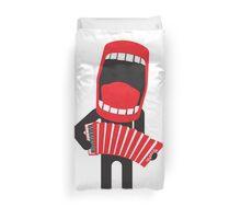 loud singing accordion player Duvet Cover