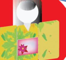 Origami Geisha  Sticker
