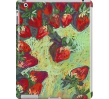 Strawberries on a table iPad Case/Skin
